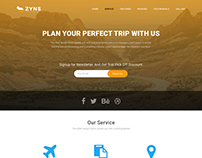 ZYNS TRAVELS - Landing Page