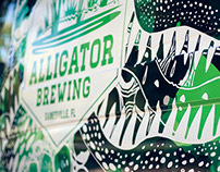Alligator Brewing branding and reptilian van wrap