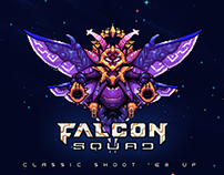 Falcon Squad - Classic shoot'em up - Game Art