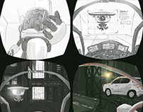 Storyboard/early concepting- UNIT9-Nissan
