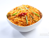 Food Photography. South indian dishes and Noodles.