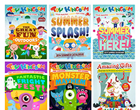 Toy Kingdom Catalogue Cover Illustrations