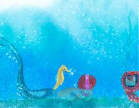 Mermaid Geek painted in Adobe Photoshop with Wacom