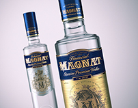 CGI Packshot vodka Magnat for Grand buro