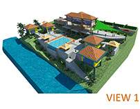 3D Landscape project for a private villa in Ubud (2)