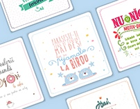 Typography Cards Concept