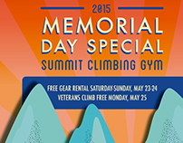 Memorial Day Campaign: Summit Climbing Gym