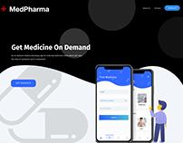 UI/UX Design Concept for Medical Pharmacy App Webpage