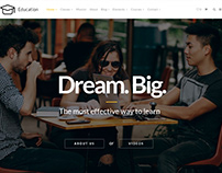 Home Slider - Education WordPress Theme