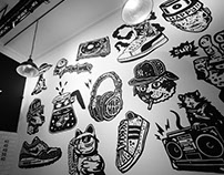 Sneaker Mate wall project