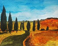 Watercolor study: Nature