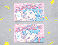 ZZIFAN_Z  EASY CARD STICKER