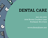 Dental Care Clinic Business Card Maker