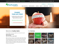 Healthy Habits Wellness Clinic Website UI/UX