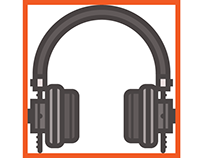 DJ equipment icons