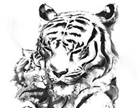 Chinese brush painting practice