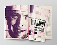 In Conversation With Tom Hardy: 4 Page Spread