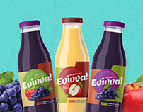 Sucos Evivva! / Fruits Juice Packaging Design
