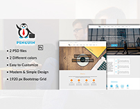 Penguin - PSD Template for Business Companies