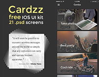 Cardzz | free iOS UI Kit