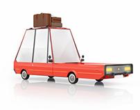 Cartoon car. Free 3d model
