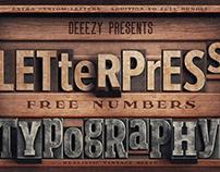 Vintage Letterpress – FREE Custom Numbers