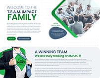 Team Impact Corporate Website Design