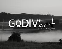 Identité graphique pour une association, Godiv'art.