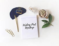 Writing Pad Free Mockup