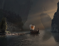 Various Digital Matte Paintings