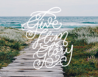 Hand-lettered Bible verses for Walk the Same