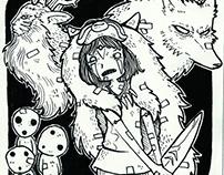 INKTOBER CHALLENGE - Miyazaki's Worlds