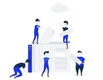 Custom Landing Page Illustration