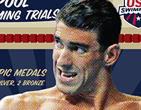 US Olympic Swimming Trials Social Graphics