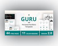 GURU - Personal Portfolio Template