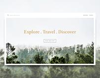 Minimal Travel Website Concept