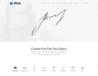Portfolio 3 Columns - Peak WordPress Theme