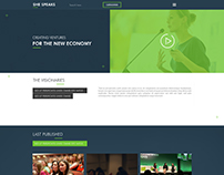 She Speaks Website Mockup