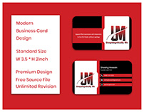Unique Minimalist Business card design