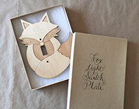 Laser Cut Light Switch Plates
