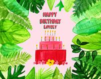 Jungle Birthday Cards