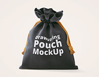 FREE 3D Drawstring Pouch Mock-Up