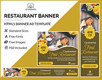 Restaurant Banner- HTML5 Ad Templates