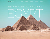 Discovering ancient Egypt landing page concept