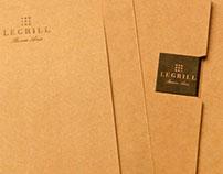 Le Grill restaurant, diseño de menues y manteleria