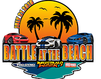 BATTLE AT THE BEACH LOGO (Mustang Week and ProDyno)