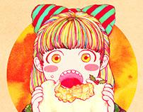 Baumkuchen girl