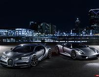 Bugatti Chiron | Porsche 918 - CGI & Retouching