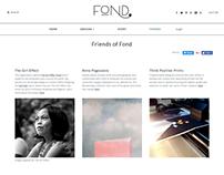 Project Fond website content