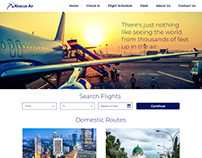 Web design for Abacus Airline